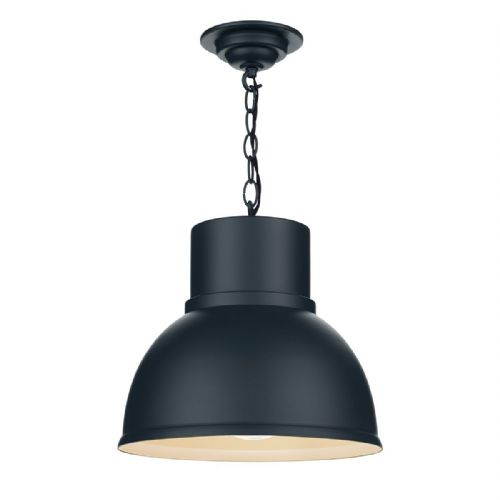 Shoreditch 1 Light Pendant Large Smoke Blue (Hand made, 7-10 day Delivery)